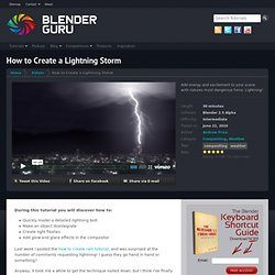 How to Create a Lightning Storm