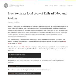 How to create local copy of Rails API doc and Guides « Aslam Najeebdeen