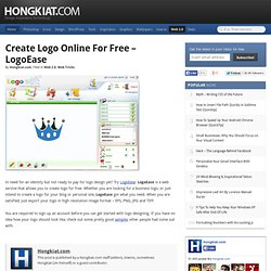 Create Logo Online For Free – LogoEase