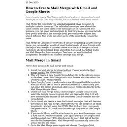 How to Create Mail Merge in Gmail with Google Docs
