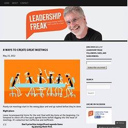 8 Ways to Create Great Meetings