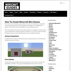 How To Create Minecraft Mini Games - Minecraft Guides