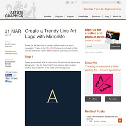 Create a Trendy Line Art Logo with MirrorMe