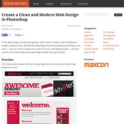 Create a Clean and Modern Web Design in Photoshop