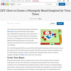 DIY: How to Create a Monopoly Board Inspired by Your Town