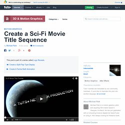 Create a Sci-Fi Movie Title Sequence