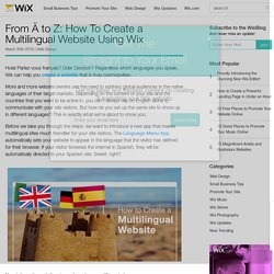 How To Create a Multilingual Website With Wix