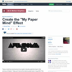 "Create the ""My Paper Mind"" Effect"