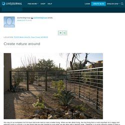 Create nature around: azulverdegroup