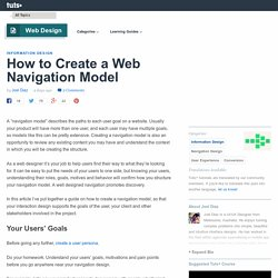 How to Create a Web Navigation Model - Tuts+ Web Design Article
