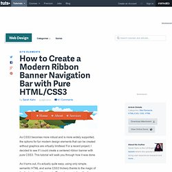 How to Create a Modern Ribbon Banner Navigation Bar with Pure HTML/CSS3