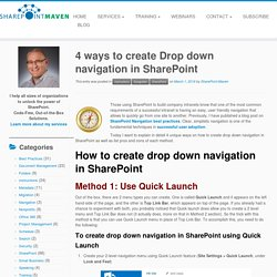 4 ways to create Drop down navigation in SharePoint - SharePoint Maven