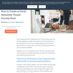 How to Create an Email Newsletter People Actually Read