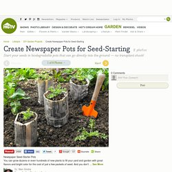 Create Newspaper Pots for Seed-Starting