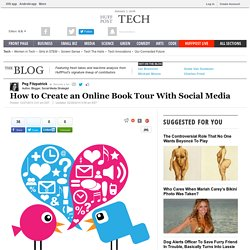 How to Create an Online Book Tour With Social Media | Peg Fitzpatrick