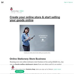 Create your online store & start selling your goods online