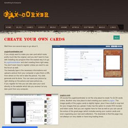 Create your own cards - Fan-Corner