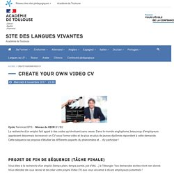 Create your own video CV