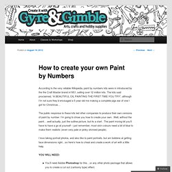 How to create your own Paint by Numbers