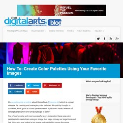 How To Create Color Palettes Using Your Favorite Images