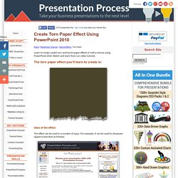 Create Torn Paper Effect Using Powerpoint 2010