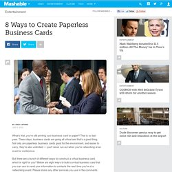 8 Ways to Create Paperless Business Cards