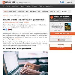 The top 15 designer resume tips