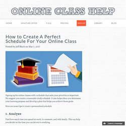 How to Create A Perfect Schedule For Your Online Class