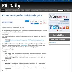 How You Can Create the 'Perfect' Social Media Post (Infographic)