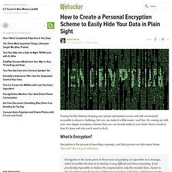 How to Create a Personal Information Encryption Scheme to Easily Hide Your Data in Plain Sight