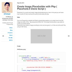 Create Image Placeholder with Php ( Placehold.it Clone Script )