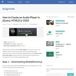 How to Create an Audio Player in jQuery HTML5 amp CSS3 Sites