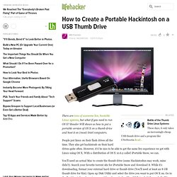How to Create a Portable Hackintosh on a USB Thumb Drive