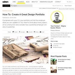 How To: Create A Great Design Portfolio