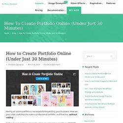 How to Create Portfolio Online (Under 30 Minutes)