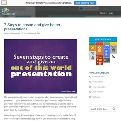 7 Steps to create and give better presentations - Present better