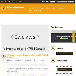 How to create a Progress bar with HTML5 Canvas