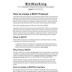 Joe Gregorio | BitWorking | How to create a REST Protocol