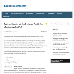 Tools and Apps to Help You Create and Publish Your eBooks on Apple's iPad - eBook Author