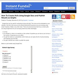Create Polls Using Google Docs
