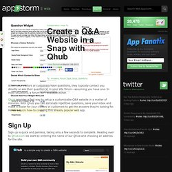 Create a Q&A Website in a Snap with Qhub
