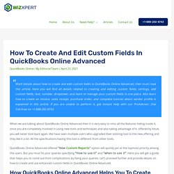 How to Create and Edit Custom Fields in QuickBooks Online Advanced