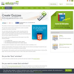 Create Quizzes