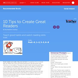 10 Tips to Create Great Readers