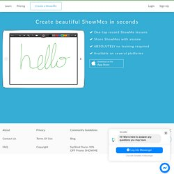 Create and record your own ShowMe with the iPad app