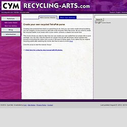 How to create a recycling money wallet from an empty milk carton - a recycling manual by Cym