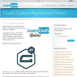 Create Custom Registration Forms!