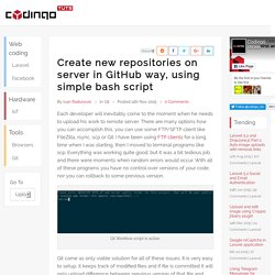 Create new repositories on server in GitHub way, using simple bash script