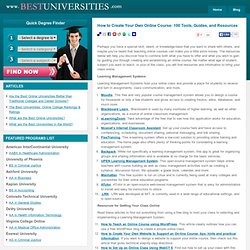 Cómo crear su propio curso en línea: 100 Herramientas, Guías y Recursos