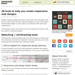 20 tools to help you create responsive web designs